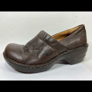 Born Leather Clogs Loafers Women's 7M
